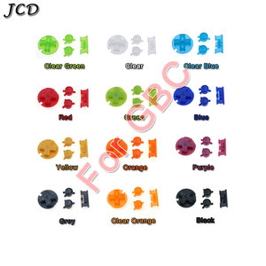 Image 1 - JCD 10sets/lot Plastic Power ON OFF Buttons Keypads for Gameboy Color GBC Colorful Buttons for GBC D Pads A B Buttons