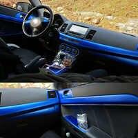 Per Mitsubishi Lancer EX2009-2016 Interno Pannello di Controllo Centrale Maniglia Della Porta Adesivi In Fibra di Carbonio Decalcomanie Car styling Accessorie