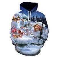 Weihnachten männer und frauen Allgemeine Hoodies Männer der 3D Gedruckt Hoodies Herbst/winter Mode Schneemann Hoodies XXS-4XL
