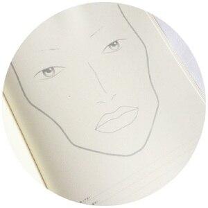 Image 3 - A4 Facechart נייר איפור נייד מקצועי איפור אמן עיסוק תבנית איפור ציור ספר