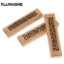 Burner Stick-Holder Ash-Catcher Insence-Box Incense Bamboo Burning-Joss New Wood 1pcs