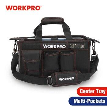 WORKPRO 600D Schulter Werkzeug Tasche mit Zentrum Fach Wasserdicht Werkzeug Kits Taschen Taschen für Electrican Taschen