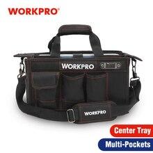WORKPRO 600D 어깨 도구 가방 센터 트레이 방수 도구 키트 가방 전기 가방에 대 한 주머니