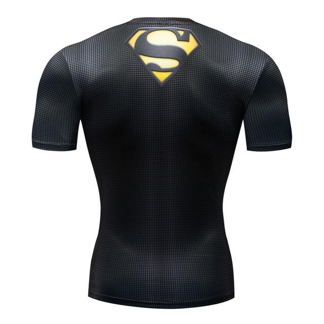 Мужская компрессионная 3D футболка Supermen 3