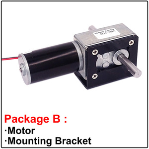 Image 3 - Double Shaft High Torque Worm Geared Motor 24V 12 Volt 5 470RPM Self Locking Adjustable Speed Reversed For Automatic Drying Rack