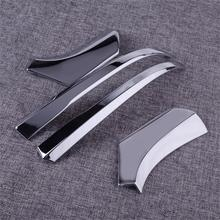 DWCX New 4Pcs Chrome Styling Car Rearview Sticker Rear View Mirror Decorate Trim Strip ABS Fit For Toyota RAV4 2019 2020