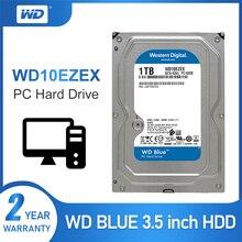 1 테라바이트 WD 3.5 SATA 6 기가바이트/초 HDD 내장 하드 디스크 64M 7200PPM 하드 드라이브 데스크탑 hdd WD10EZEX