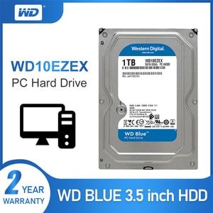 Image 1 - 1TB WD Blue 3.5 SATA 6 GB/s HDD sata internal hard disk 64M 7200PPM hard drive desktop hdd for PC WD10EZEX