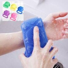 Силиконовые щетки для ванной Полотенца s скруббер Ванна длинные