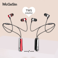 Nuevo TWS par auriculares banda magnética Bluetooth 5,0 inalámbrico de deporte auriculares 9D de música estéreo auricular regalo de Navidad para amigo