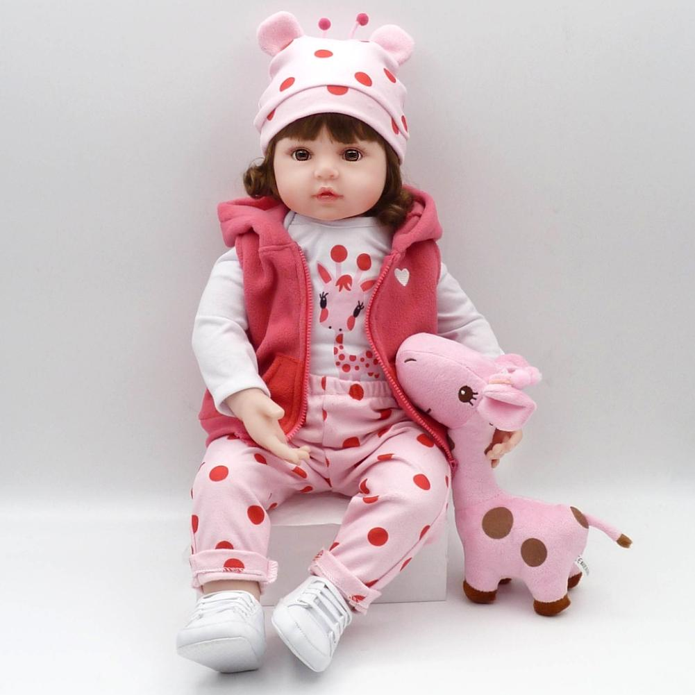 48cm Soft Silicone Reborn Toddler Baby Doll Baby Girls Princess Adorable Lifelike Toddler Kids Toy Christmas Surprice Gifts