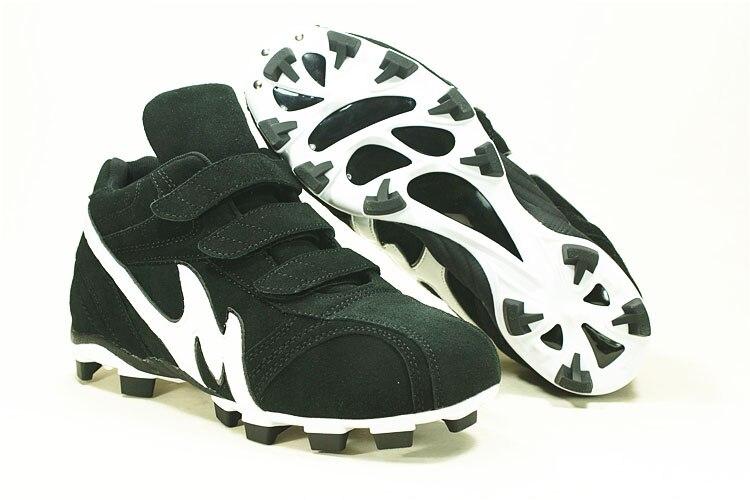 Men women professional spikes baseball Softball shoes kids genuine leather breathable training spikes baseball shoes