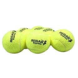 Regail 6 Pcs Palline da Tennis per La Formazione 100% Fibra Sintetica di Qualità di Gomma Palle da Tennis