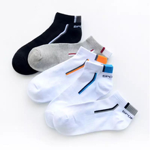 10Pair/Lot Mens Ankle Socks Cotton Solid Breathable Socks Male Sweat Absorption Patchwork Fashion Mesh Invisible Ankle Socks