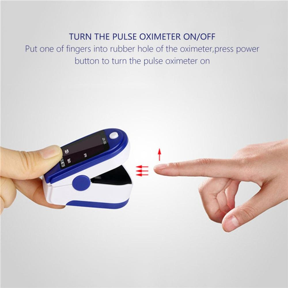 Fingertip Pulse Oximeter New Home Blood Oxygen Saturation Monitor ABS PC Low Power Consumption Automatic Standby Or Sleep