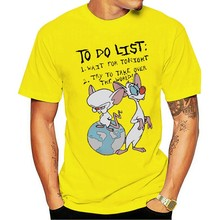 2021 rozrywka moda 100% bawełna O-neck T-shirt pinky e o cérebro para fazer lista