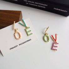New creative LOVE earring temperament fashion lady little fresh asymmetric letter earrings for women