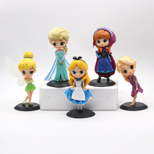 Kawaii Princess Doll Toys Fire Lizard Elsa Angel Alice Princess Action Figure Model Collection PVC Toys For Girls Birthday Gifts 2019 11cm q posket princess figure toys mulan princess action figure model collection pvc toys b862