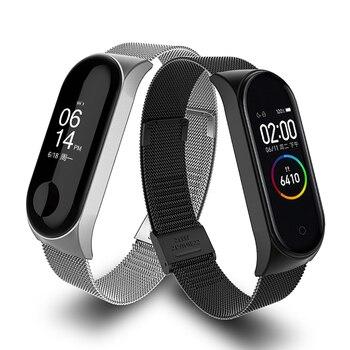 Reloj inteligente 2020, Correa metálica de acero inoxidable para Xiaomi Mi Band...