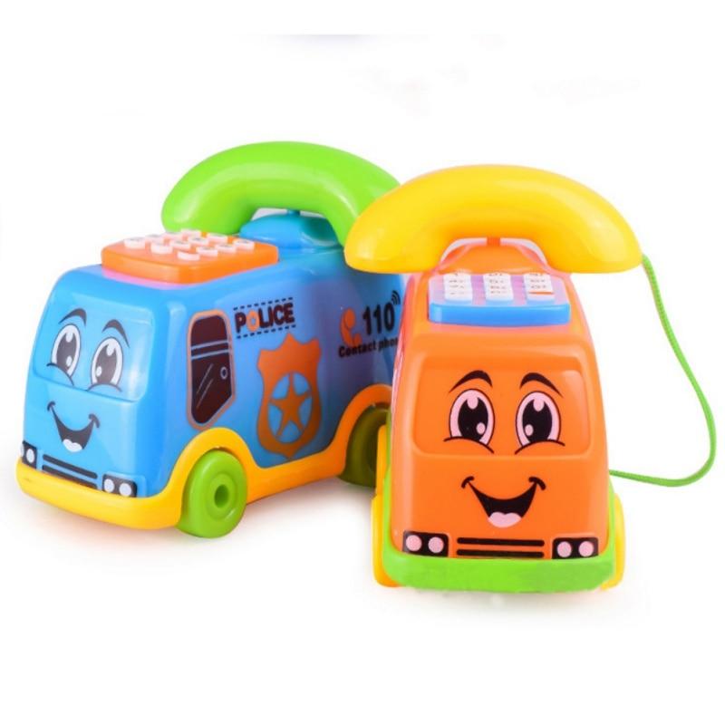 Baby Toys Music Cartoon Bus Phone Educational Developmental Fun Child Toys Gifts