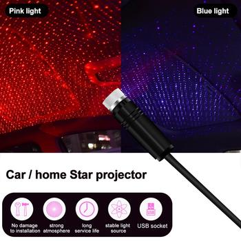 Star Light Usb Lamp star light Car Starry Sky Decoration Star Ceiling  Atmosphere Projection Lamp Interior Decoration LED Lights цена 2017