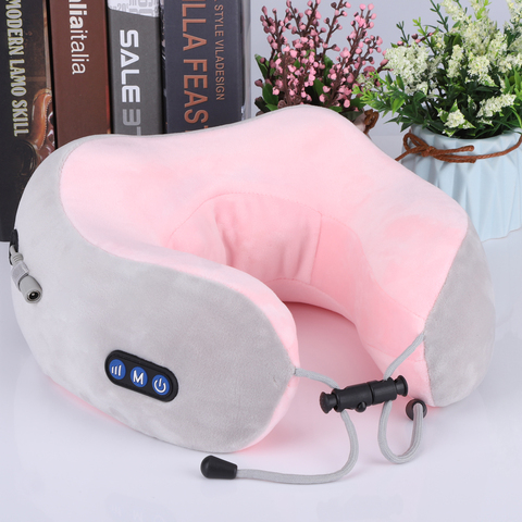 pescoco massagem travesseiro usb recarregavel u forma cervical vertebra calor amassar vibracao massager viagem escritorio
