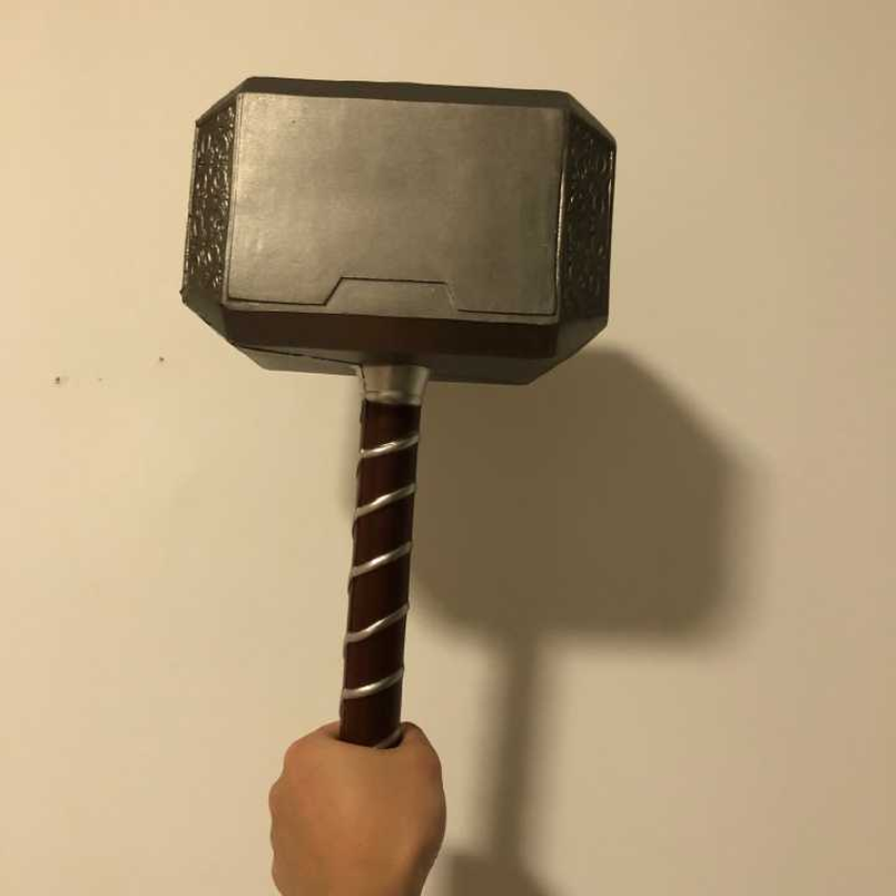 44 Cm Cosplay 1: 1 Thor Hammers PVC Toys Thor Thunderous Hammer Books About Weapons Model Figure Children's Gift