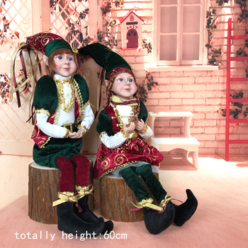 Elfo de peluche de Navidad para niños, elfo de peluche, decoración de...