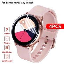 Экран протекторы для Samsung Galaxy Watch Active 2 40 мм 44 мм мягкий пленка полный чехол защитный защита пленка устойчивость к царапинам