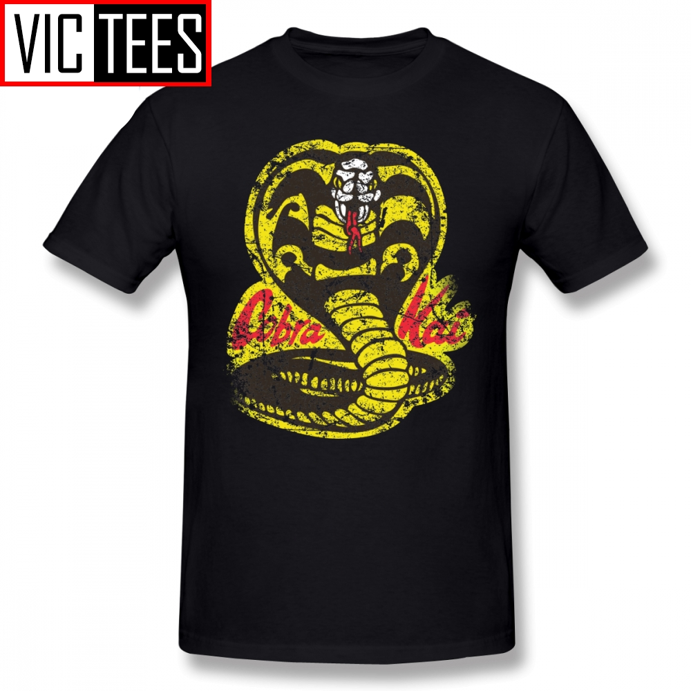 Mens Cobra Kai T Shirts Cobra Kai T-Shirt Oversized Tee Shirt Printed Cotton Classic Men Fun Tshirt