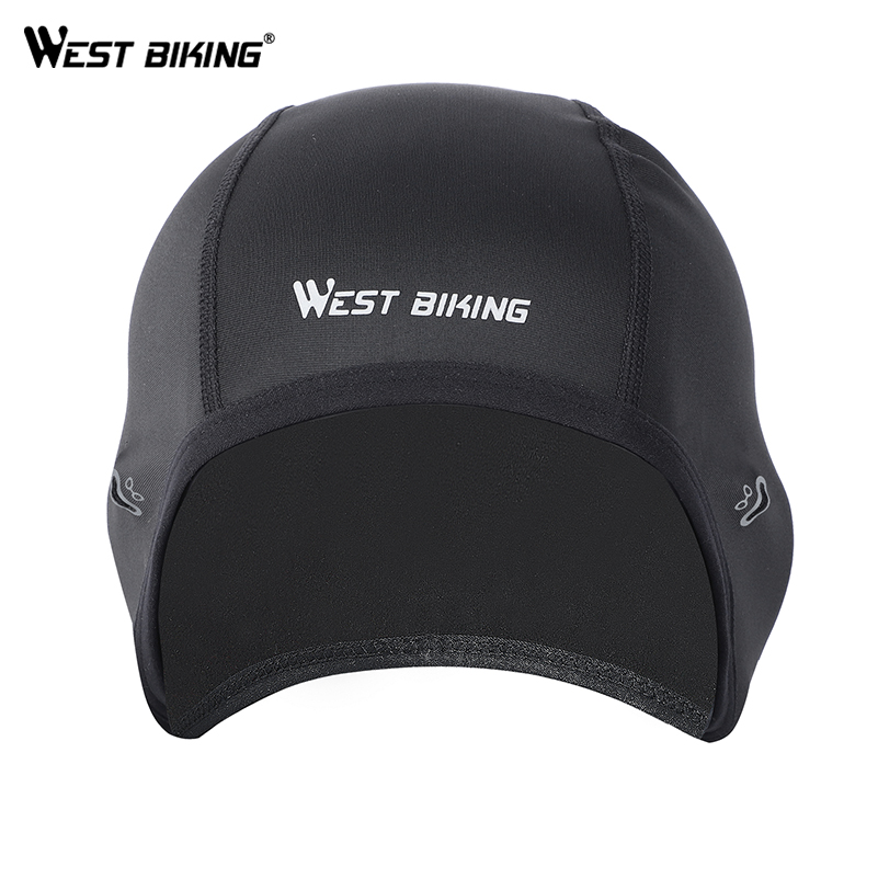 WEST BIKING Winter Fleece Bicycle Caps Windproof Thermal Helmet Liner Men Women Bike Hats Outdoor Running Skiing Cycling Caps