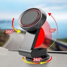 ANMONE Auto Telefon Halter Falten Magnetic Halter Instrument Schreibtisch Paste Halterung 360 Grad Smartphone Gps Magnet Steht