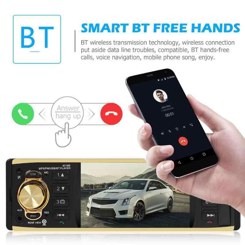 """VODOOL 4019B 1din Bluetooth カーラジオ Autoradio ステレオ MP5 プレーヤー 4.1 """"AUX USB FM バックアップカメラ自動オーディオ車マルチメディアプレーヤー"""