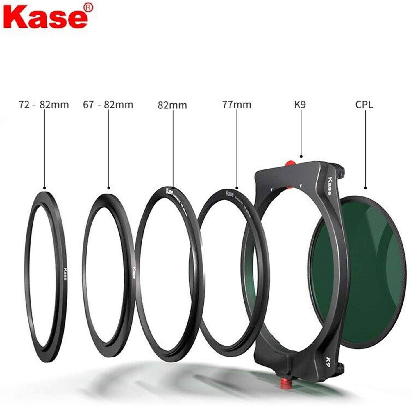 Kit com Suporte + 90 Kase Fino Filtro Titular mm Cpl Magnético 67mm 72mm 77mm 82mm Adaptadores k9 100mm