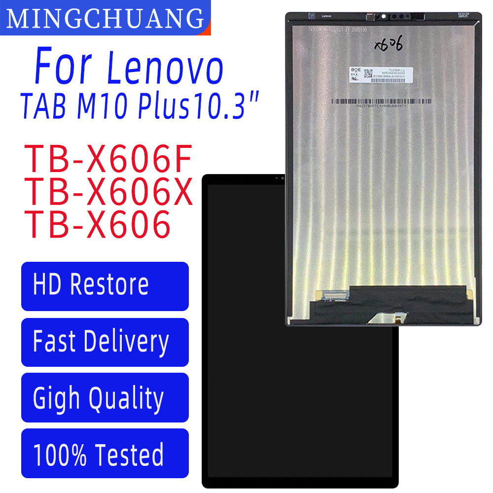 Original New10.3″For Lenovo Tab M10 Plus TB-X606F TB-X606X TB-X606 LCD Display Touch Screen Digitizer Assembly Replacement Parts