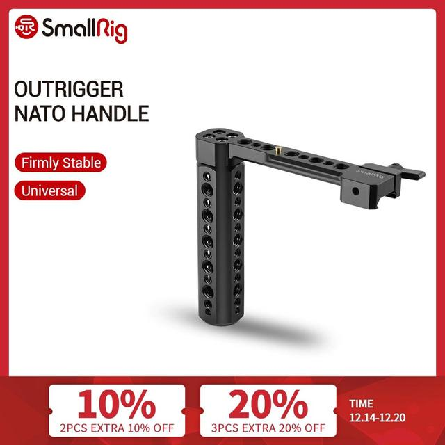 """SmallRig Outrigger Nato Handle With 1/4"""" and 3/8"""" Threaded Holes For Universal Camera Cage/Monitor/Magic Arm  1534"""