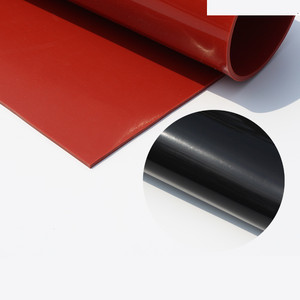 Image 2 - 1.5mm/2mm/3mm Red/Black Silicone Rubber Sheet 500X500mm Black Silicone Sheet, Rubber Matt, Silicone Sheeting for Heat Resistance