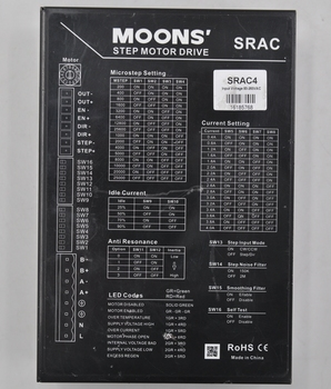 SRAC4 MOONS 'Mingzhi original disassemble two-phase AC stepper motor driver цена 2017