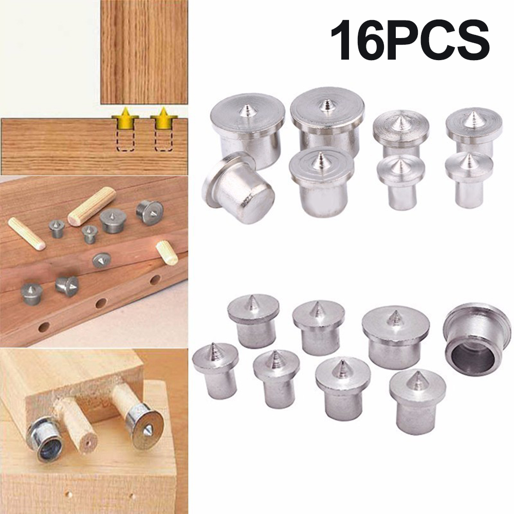 Wood Timber Dowel Centers Marker Hole Tenon Alignment Solid Silver A3 Tool