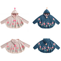 Kids Jacket 2019 L&M Brand New Autumn Winter Girls Embroidery Beauty Flower Print Knit Hoodies Coat Baby Child Outwear Clothes