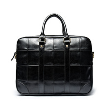 2020 New Retro Business Men' s Handbag PU Leather Casual British High-capacity Trend Fashion Computer Briefcase Leather Bag Men concise men s briefcase with pu leather and black design