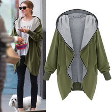 Autumn Winter Women Oversize Hooded Jacket Fashion 2019 Warm Comfortable Cardigan Loose Coat Tops For