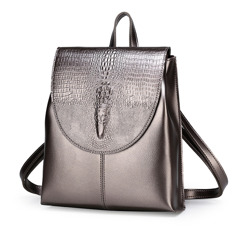 2020 Classic Female Backpack Fashion Retro Korea Casual Women PU Leather Back Pack Cross Shoulder School Bags