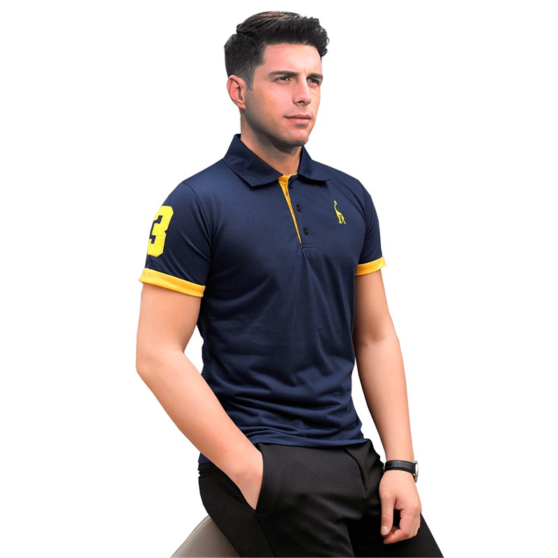 Dropshipping 13 Colors Polos Men Embroidery Polo Giraffe Shirt Men Casual Patchwork Male Tops Tees Short Sleeve Polo Shirt Men
