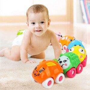 8 шт., раздвижные игрушки с магнитным соединением для автомобиля, милые Мультяшные животные, Ранняя развивающая Детская Классическая Детска...
