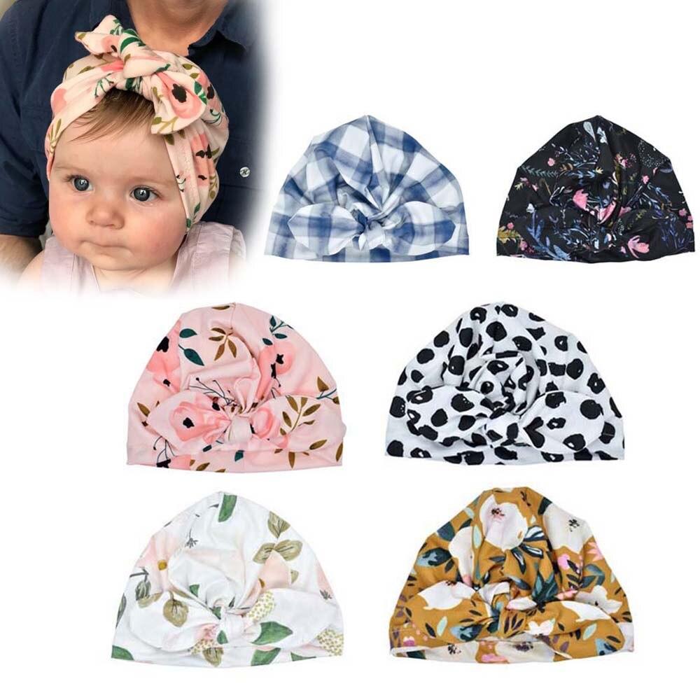Bandeau imprimé fleurs Turban pour nouveau-né | Gros nœud papillon, bandeau pour nouvelles filles, bonnet dautomne