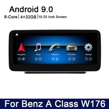 Android 9.0 8 core 4+32G For Mercedes Benz A Class W176 2016~2017 Car multimedia Player Navigation GPS radio NTG 5.0 WiFi BT image
