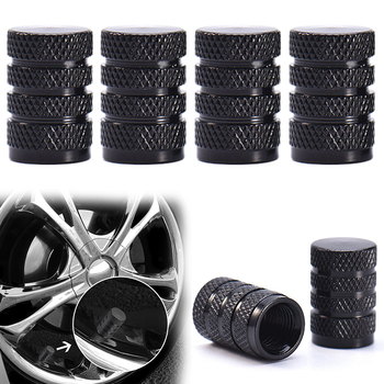 Universal 4Pcs Plastic TPMS Tire Valve Stem Air Caps Covers For Car Truck Motorcycle Wheel Tires Valves Tyre Stem Caps image