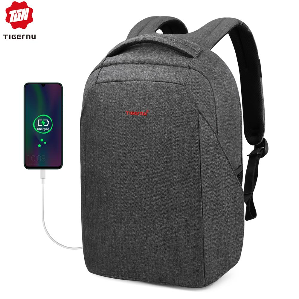 Tigernu Hard Shell Men Anti Theft Shockproof 15.6inch Laptop USB Recharging Backpacks Travel Male Mochilas Schoolbag For Boys