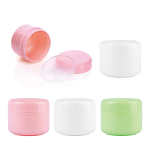 30pcs Plastic Empty Cosmetic Jar 10g/20g/30g/50g/100g Cream Pot Refillable Travel Facial Cleanser Lotion Toiletries Container